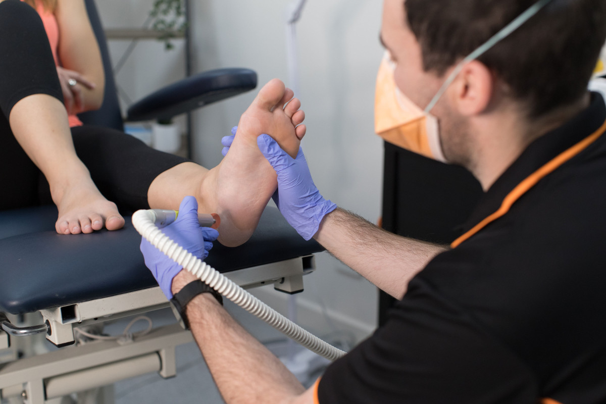 Adelaide Podiatrist Performing Nail And Skin Care Treatments