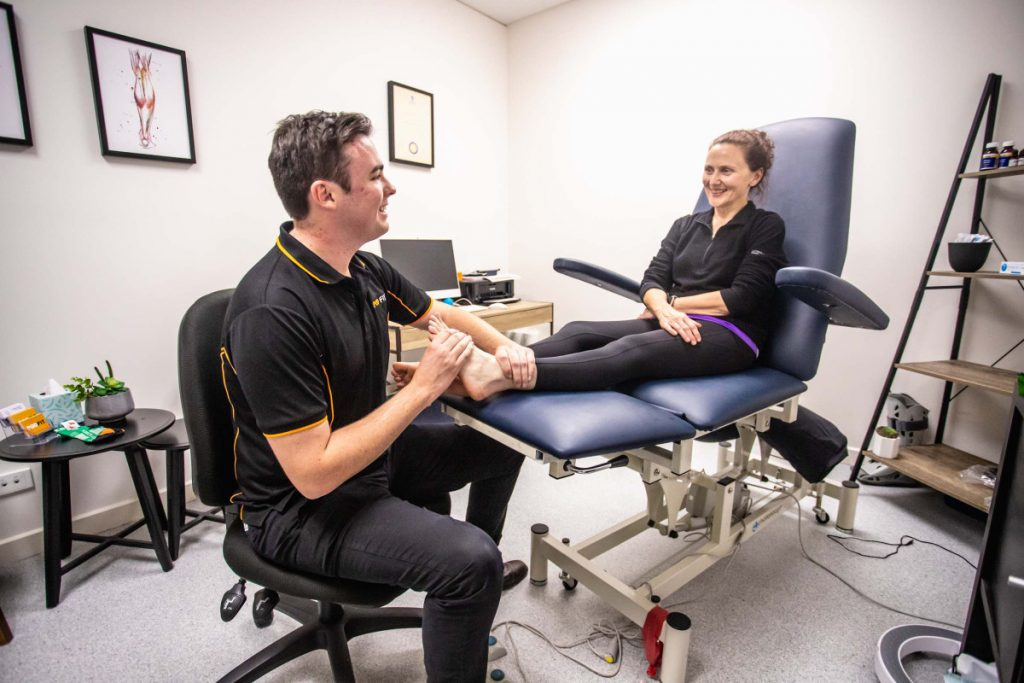 Podfit Adelaide Team Podiatrist Working