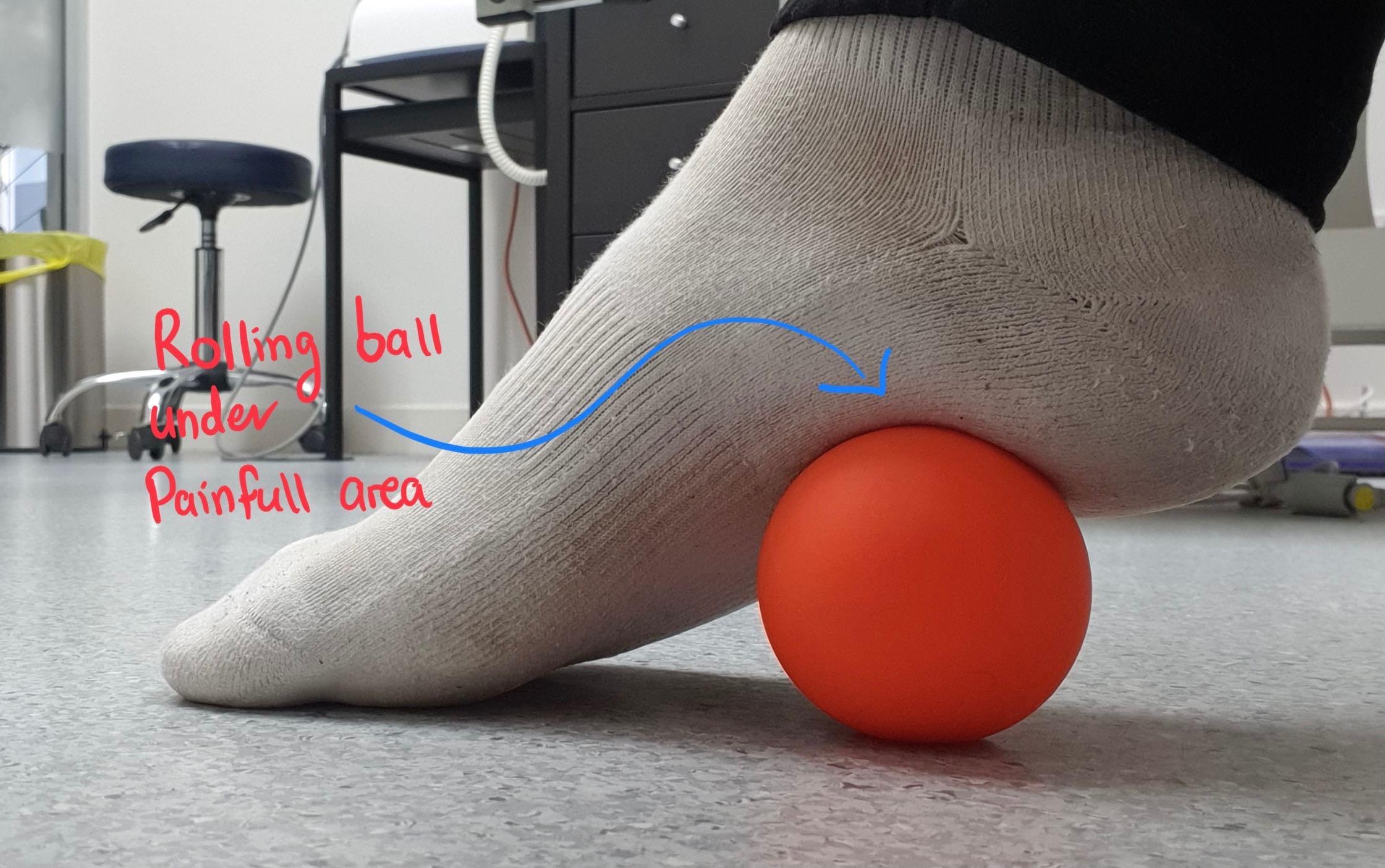 self massage under foot